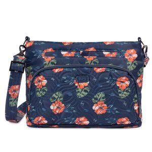 LUG Samba Convertible Crossbody Bag Navy Floral